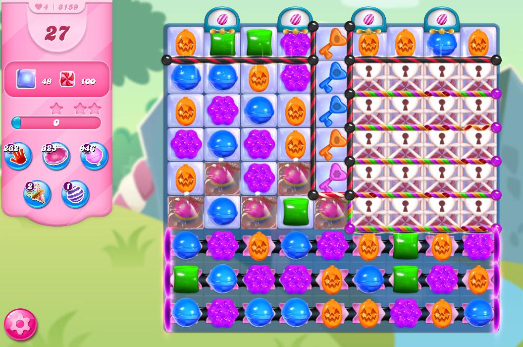 Candy Crush Saga level 8159