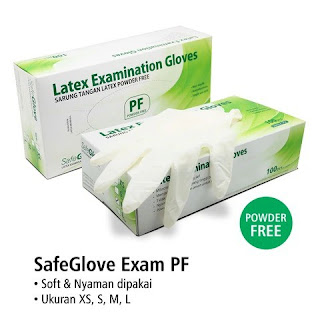 X-Logers.net Handscoon Gloves Nitrile Sarung Tangan Tanpa Tepung Non Powder Safegloves Isi 100pcs