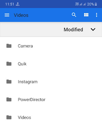 Select the video from file explorer