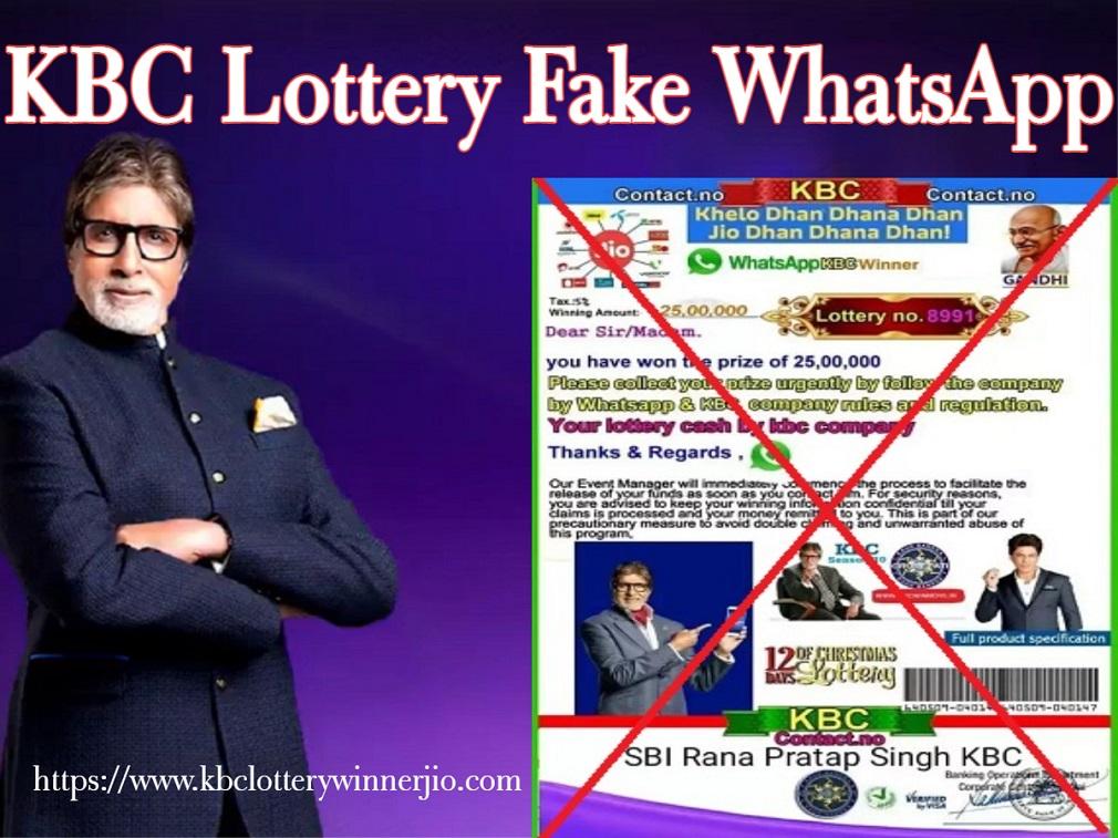 KBC Lottery Fake WhatsApp Number