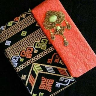 Kain Batik dan Embos 1008 Pekalongan motif Prada Orange