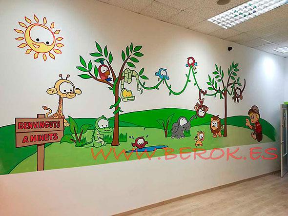 mural infantil guarderia