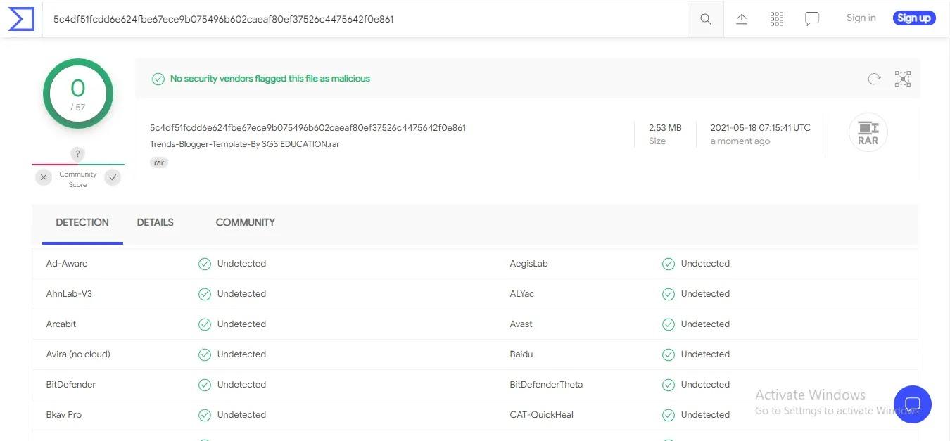 Trends Responsive Premium Blogger Template scan