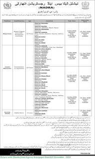 NADRA Jobs November 2020 - Latest Jobs in NADRA Quetta Supervisors, Junior Executives, Security Guards