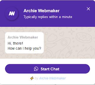 WhatsApp Live Chat Widget