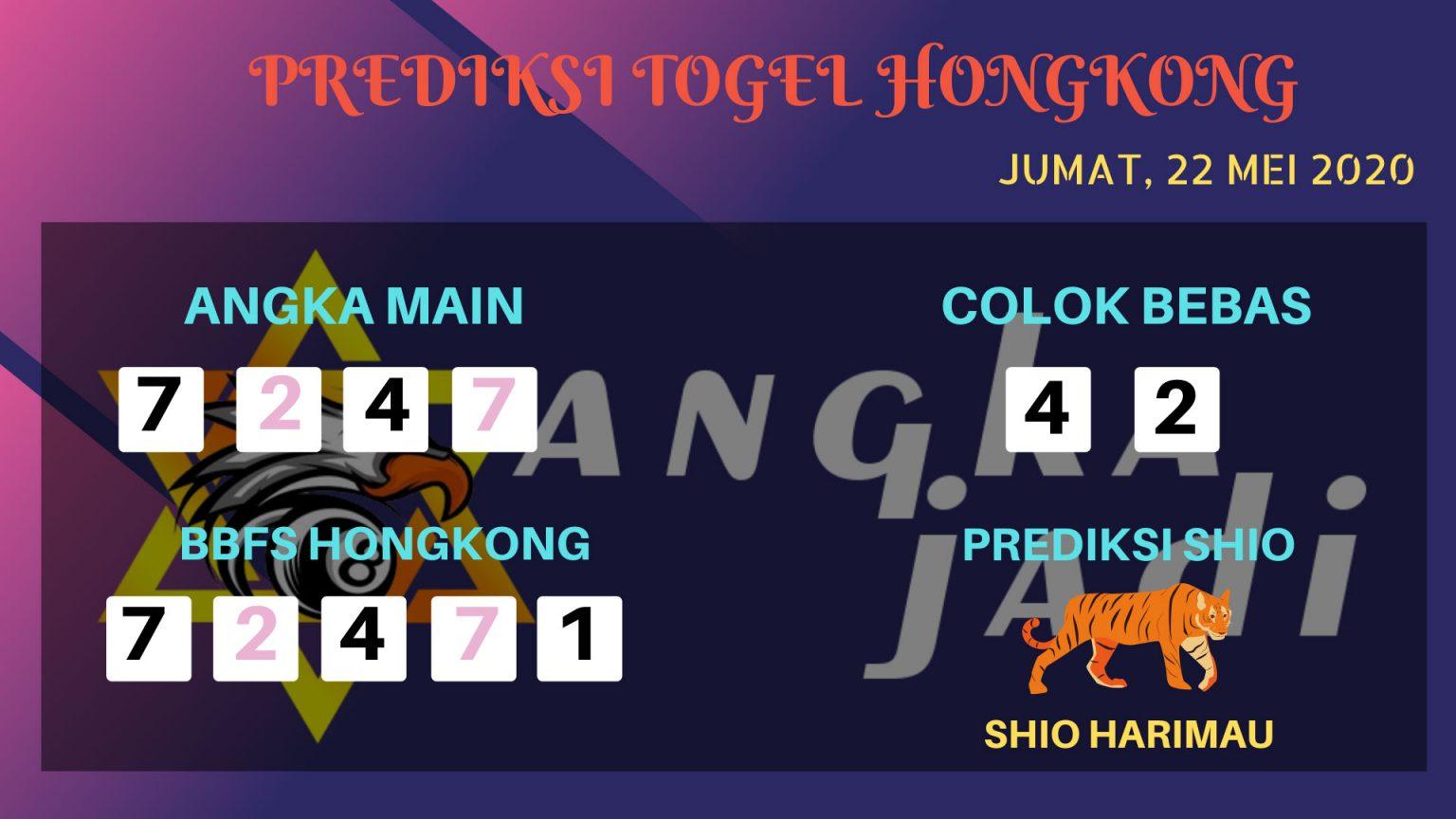 Prediksi HK Jumat 22 Mei 2020 - Bocoran HK