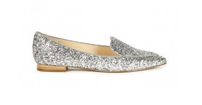 Cute and affordable shoes Sole Soceity pointed toe glitter smoking slipper