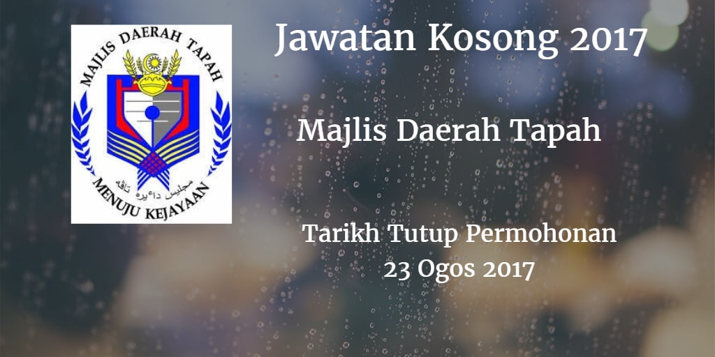 Jawatan Kosong MdTapah 23 Ogos 2017