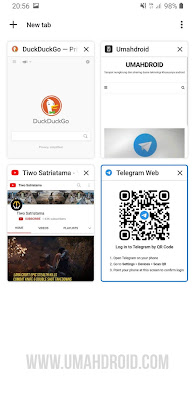 Screenshot Grid Layout Chrome Android