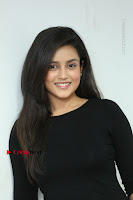 Telugu Actress Mishti Chakraborty Latest Pos in Black Top at Smile Pictures Production No 1 Movie Opening  0231.JPG