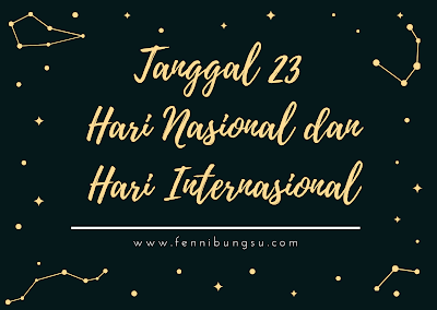 Hari Meteorologi Sedunia, World Meteorological Day, Hari Buku Sedunia dan Hak Cipta Sedunia, National World Book Day and Copyright Day, Hari Penyu Sedunia, World Turtle Day, Hari Layanan Publik PBB, Public Service Day, Hari Janda Internasional, International Widow's Day, Hari Anak Nasional (HAN), International Day for the Remembrance of the Slave Trade and its Abolition, Hari Mengenang Perdagangan Budak Sedunia dan Penghapusannya, Hari Bahasa Isyarat Internasional, International Day of Sign Languages, Hari Bahari (Maritim)