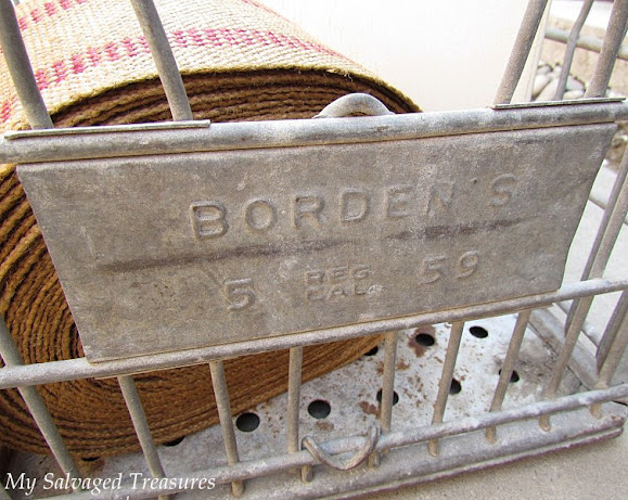 Borden's milk crate makeover
