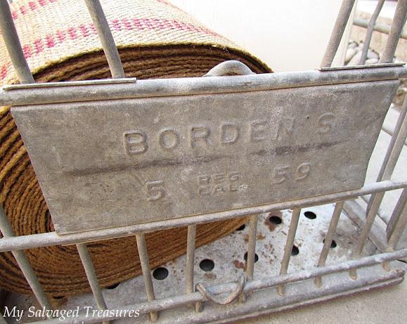 Borden's milk crate makeover