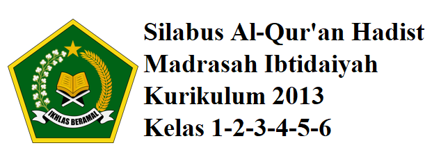 Silabus Alqur'an Hadist Madrasah Ibtodaiyah Kelas 1,2,3,4,5,6