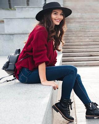 outfit casual para la universidad con sombrero