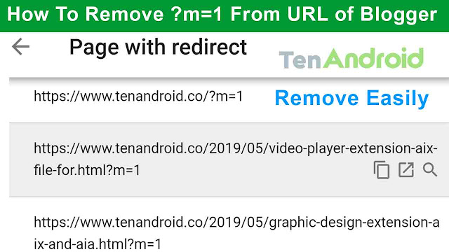How To Remove ?m=1 From URL of Blogger | Blogger m=1 Remove Easily