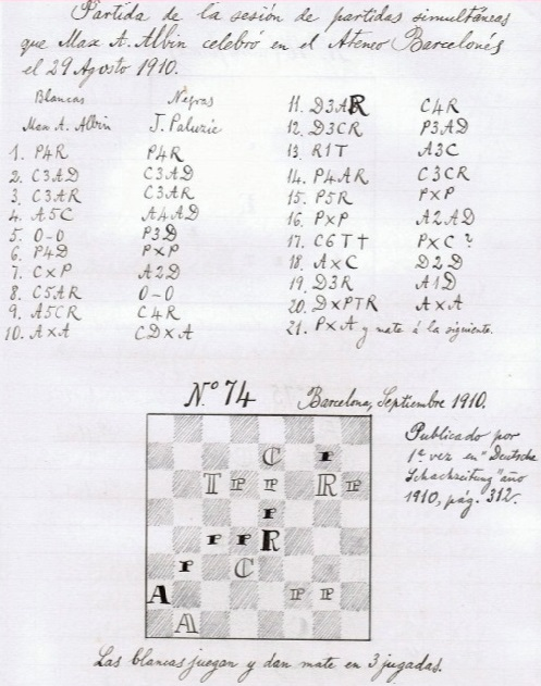 Nota manuscrita de Paluzíe