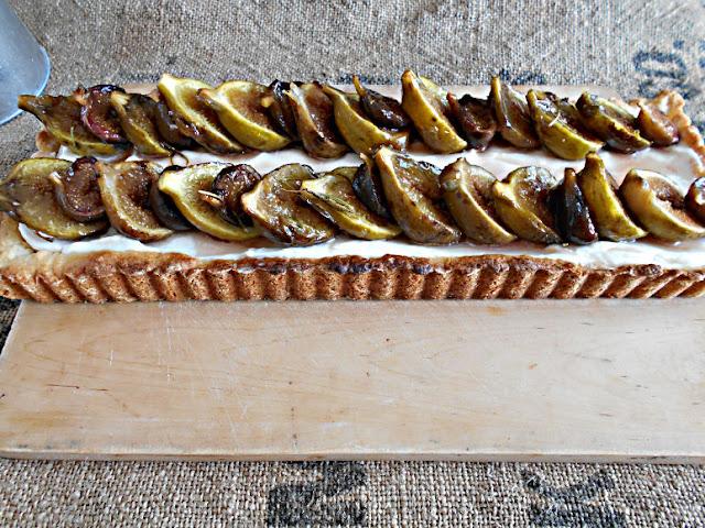 tarte figos assados com alecrim