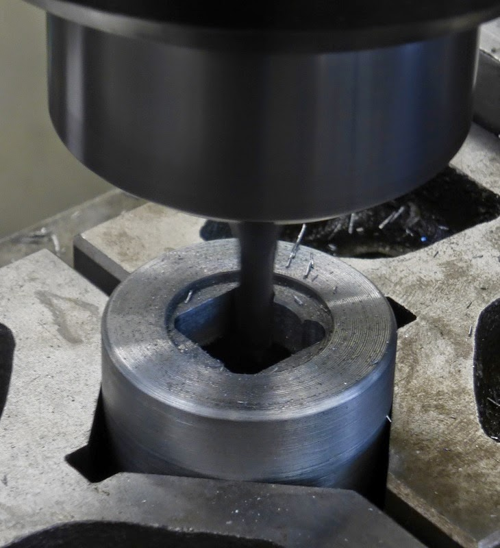 cutting the square hole with small end mill