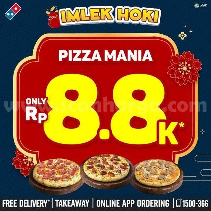 Dominos Pizza Imlek Hoki! Promo Pizza Mania cuma Rp 8.800,-