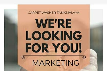 Lowongan Kerja Marketing CARPET WASHER TASIKMALAYA