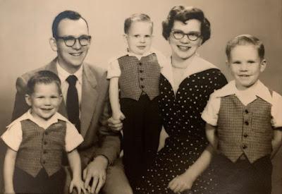 Bob Burdick, Albert Burdick, Roger Burdick, Dorothy Burdick, Jim Burdick, 1954 or early 1955