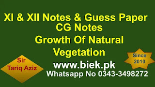 factors for the growth of Natural Vegetation