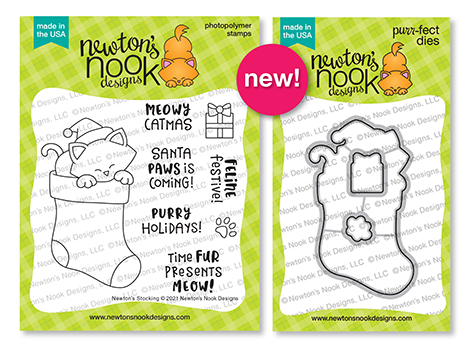 Newton's Stocking | Christmas Stamp Set and Die Set by Newton's Nook Designs