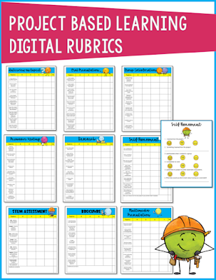 preview of the digital rubrics