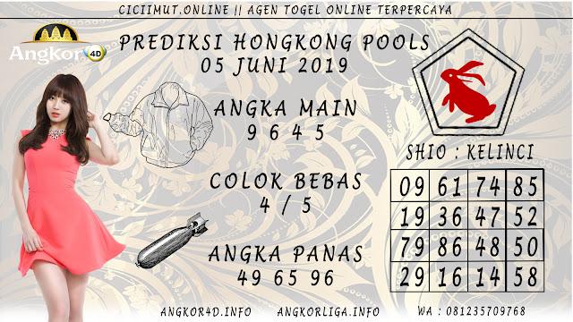 PREDIKSI HONGKONG POOLS 05 JUNI 2019