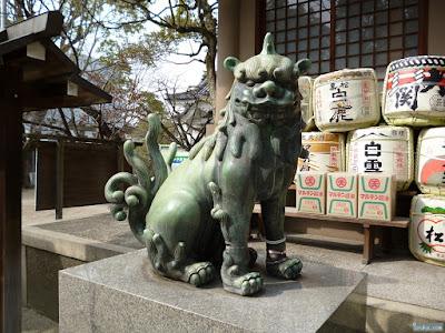 高津宮高津神社狛犬