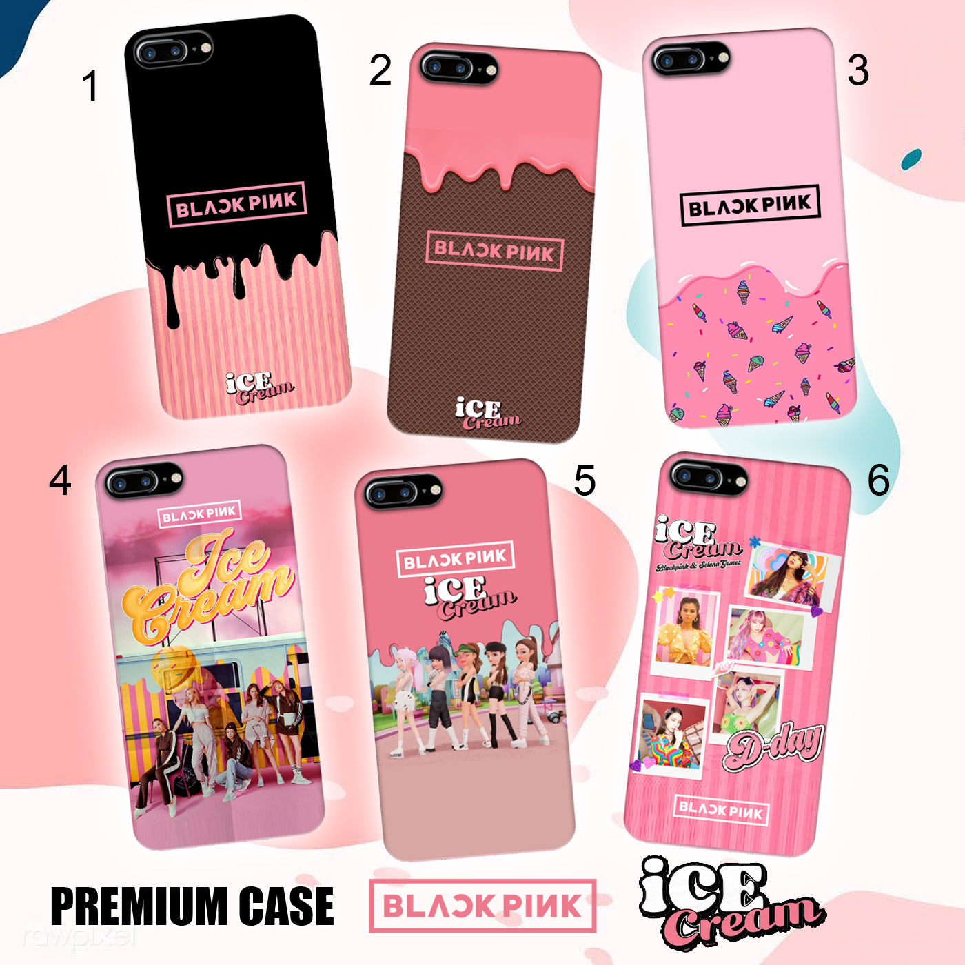 casing blackpink ice cream