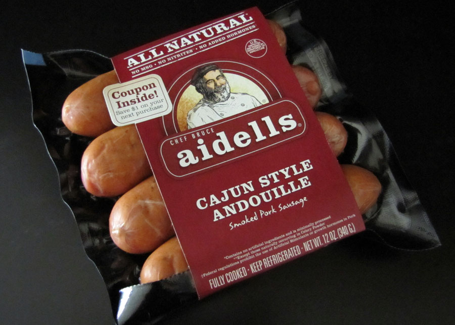 smells like food in here aidells cajun style andouille smoked pork sausage. Black Bedroom Furniture Sets. Home Design Ideas