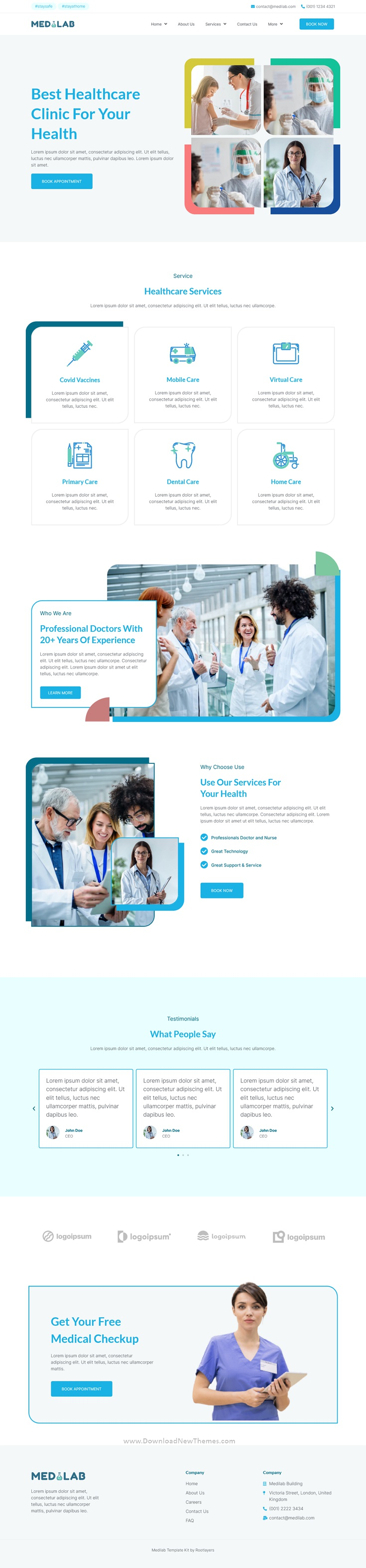Healthcare and Clinical Laboratory Elementor Template Kit