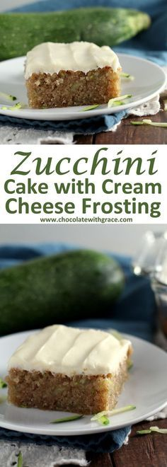 Zucchini Cake with Cream Cheese Frosting Recipe