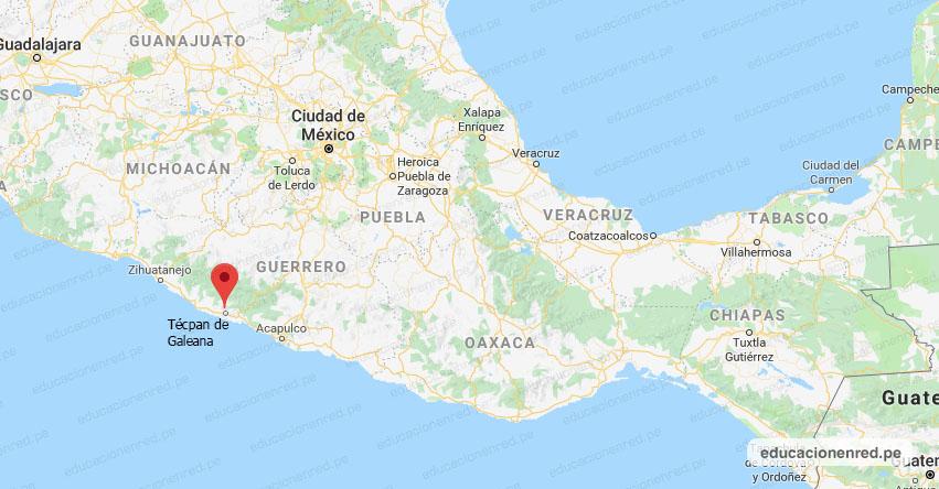 Temblor en México de Magnitud 4.1 (Hoy Martes 12 Enero 2021) Sismo - Epicentro - Técpan de Galeana - Guerrero - GRO. - SSN - www.ssn.unam.mx