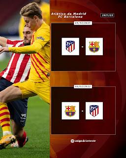 موعد ديربى برشلونة وأتليتكو مدريد فى موسم 2022 من الدوري الاسباني