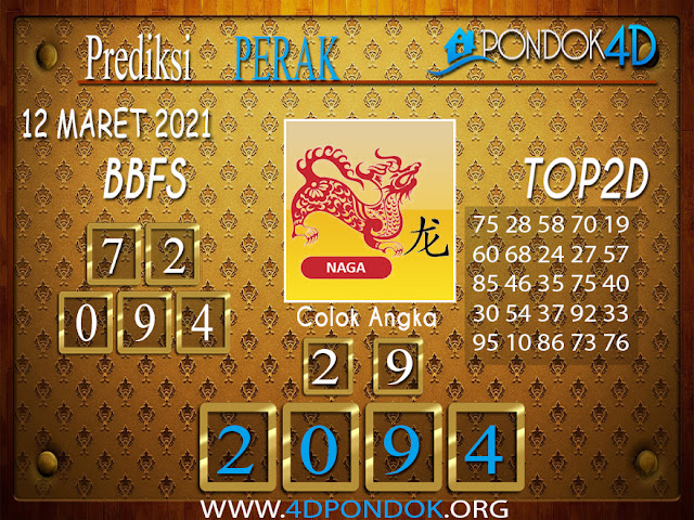 Prediksi Togel PERAK PONDOK4D 12 APRIL 2021