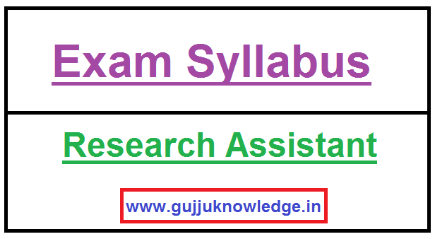 GPSSB Research Assistant new Syllabus.