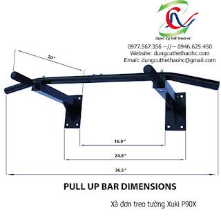Xà đơn đa năng Wall Pull Up Bar P90X