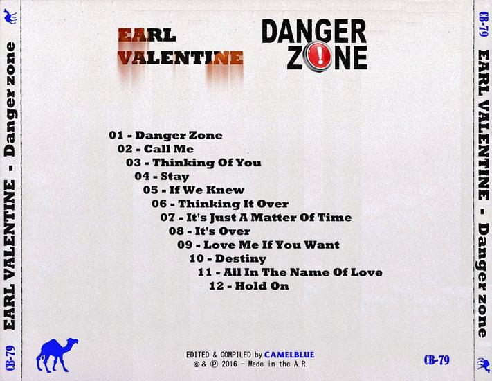 EARL VALENTINE - Danger Zone (The Unreleased Album) back