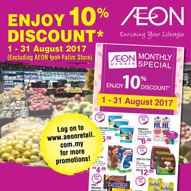 AEON Member Monthly Special Price 10% Discount Offer Promo