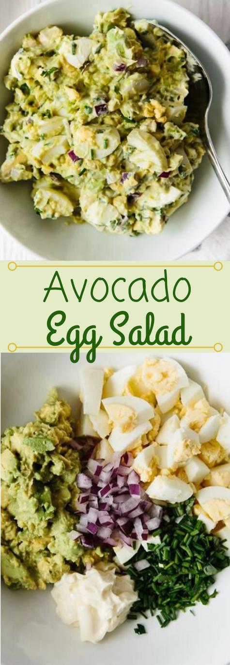 AVOCADO EGG SALAD #avocado #salad #eggroll #healthydiet #paleo