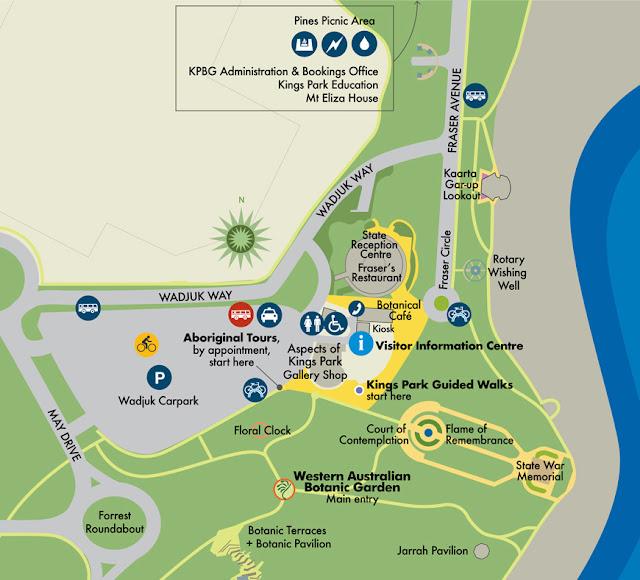 King Park & Botanic Garden Map