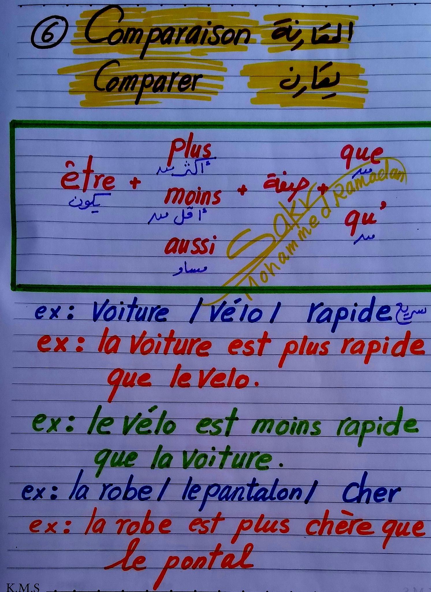 مراجعة لغة فرنسية للصف الثانى الثانوى ترم ثاني مسيو محمد رمضان 6