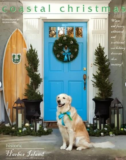 coastal Christmas door