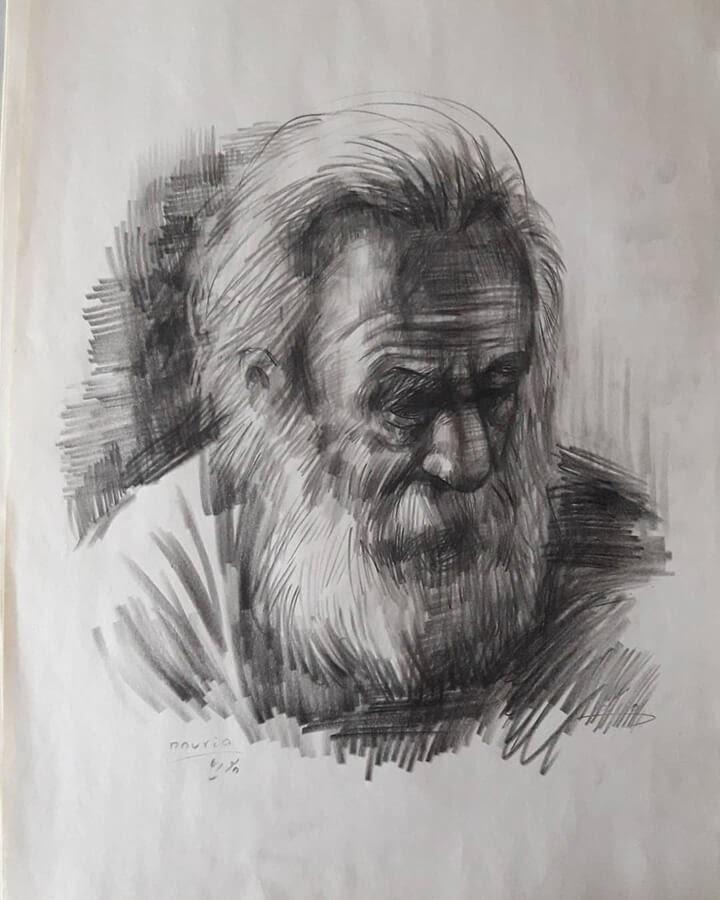 10-Portrait Drawings Pourianahaei-www-designstack-co