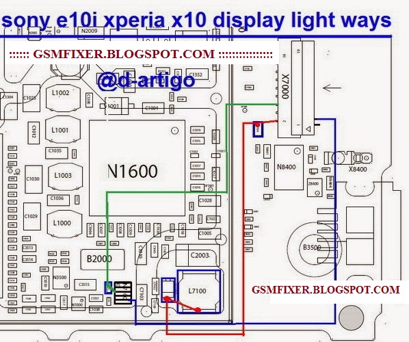 Sony Xperia X10 Mini E10i Display Light Jumper Solution | gsmfixer