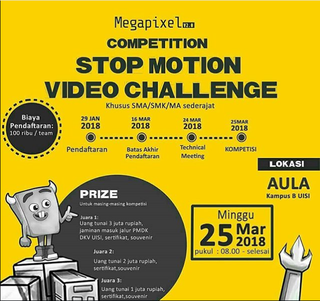Lomba Stop Motion Video Challenge Competition 2018 Univ. Internasional Semen Indonesia