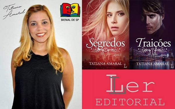 Convite, Ler-Editorial, sessão de autógrafos com Tatiana Amaral, Bienal